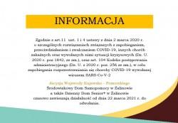 Informacja - Spółdzielnia Socjalna WIGOR